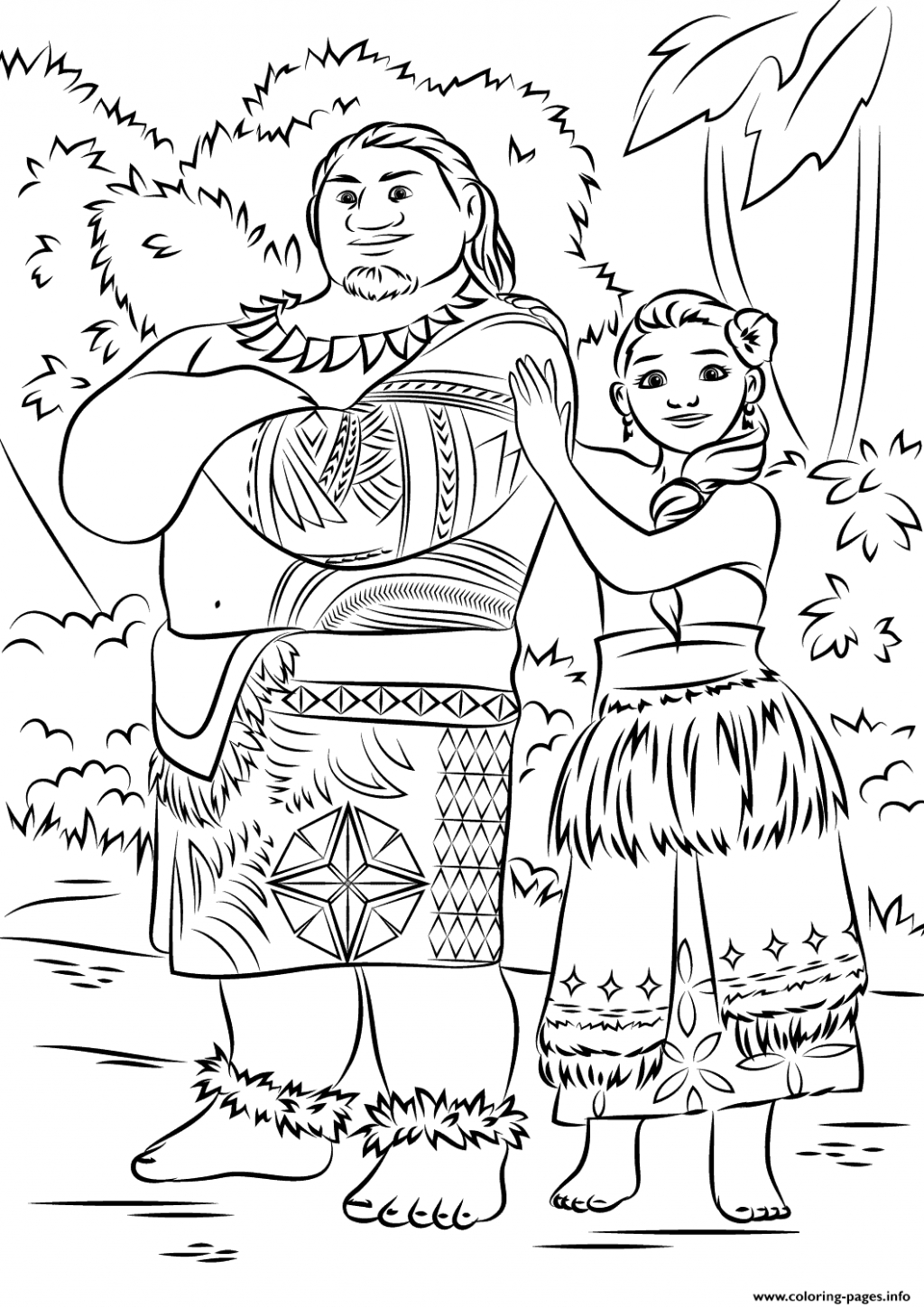 Get This Free Printable Disney Moana Coloring Pages MN58C - Top ... | 1449x1024