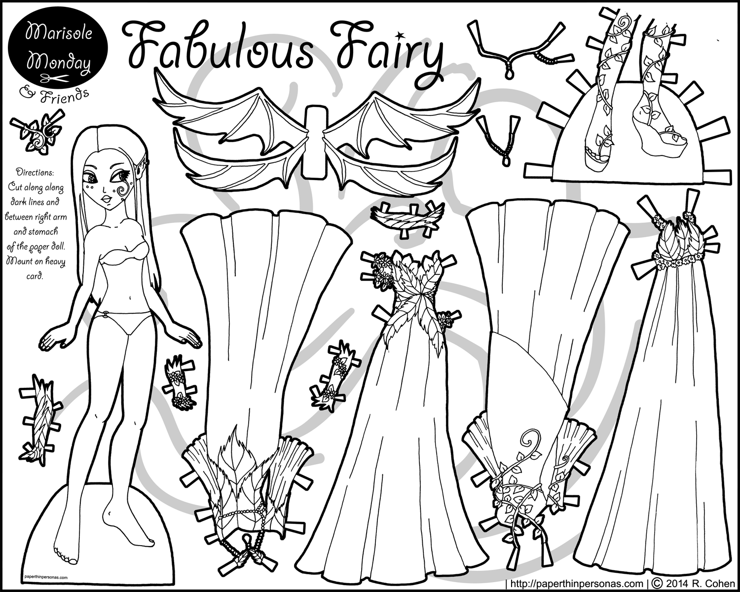 Paper Doll Coloring Pages Fabulous Fairy Paper Doll Coloring