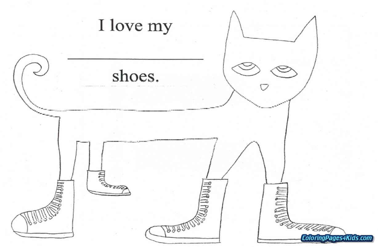 Pete The Cat Coloring Page Pete The Cat Rocking In My School Shoes