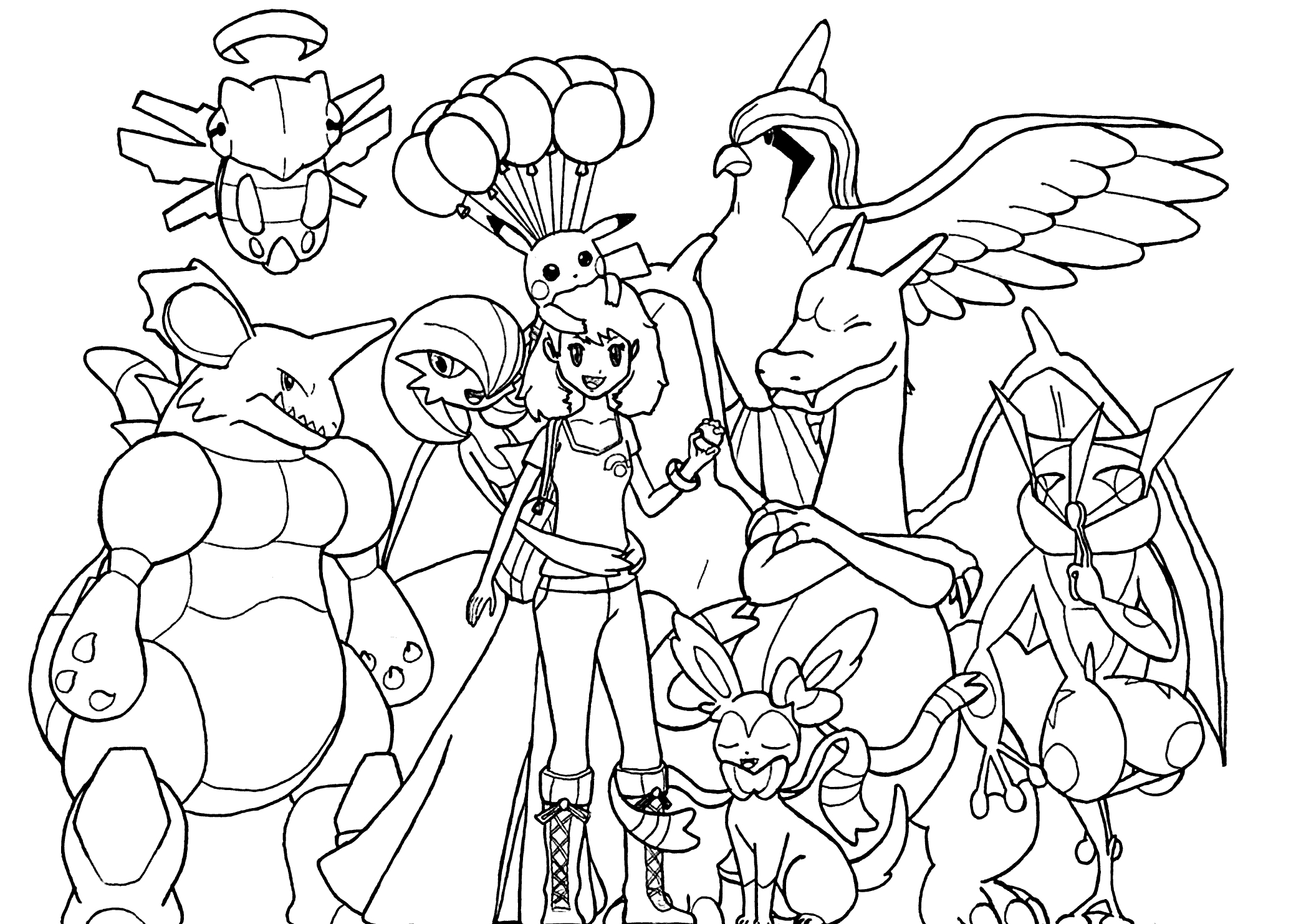 Kids All Pokemon Coloring Pages