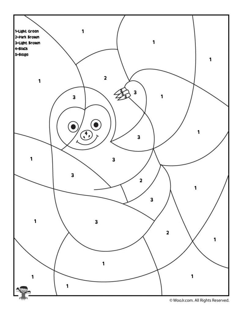 Preschool Coloring Pages Promising Animal Color Number