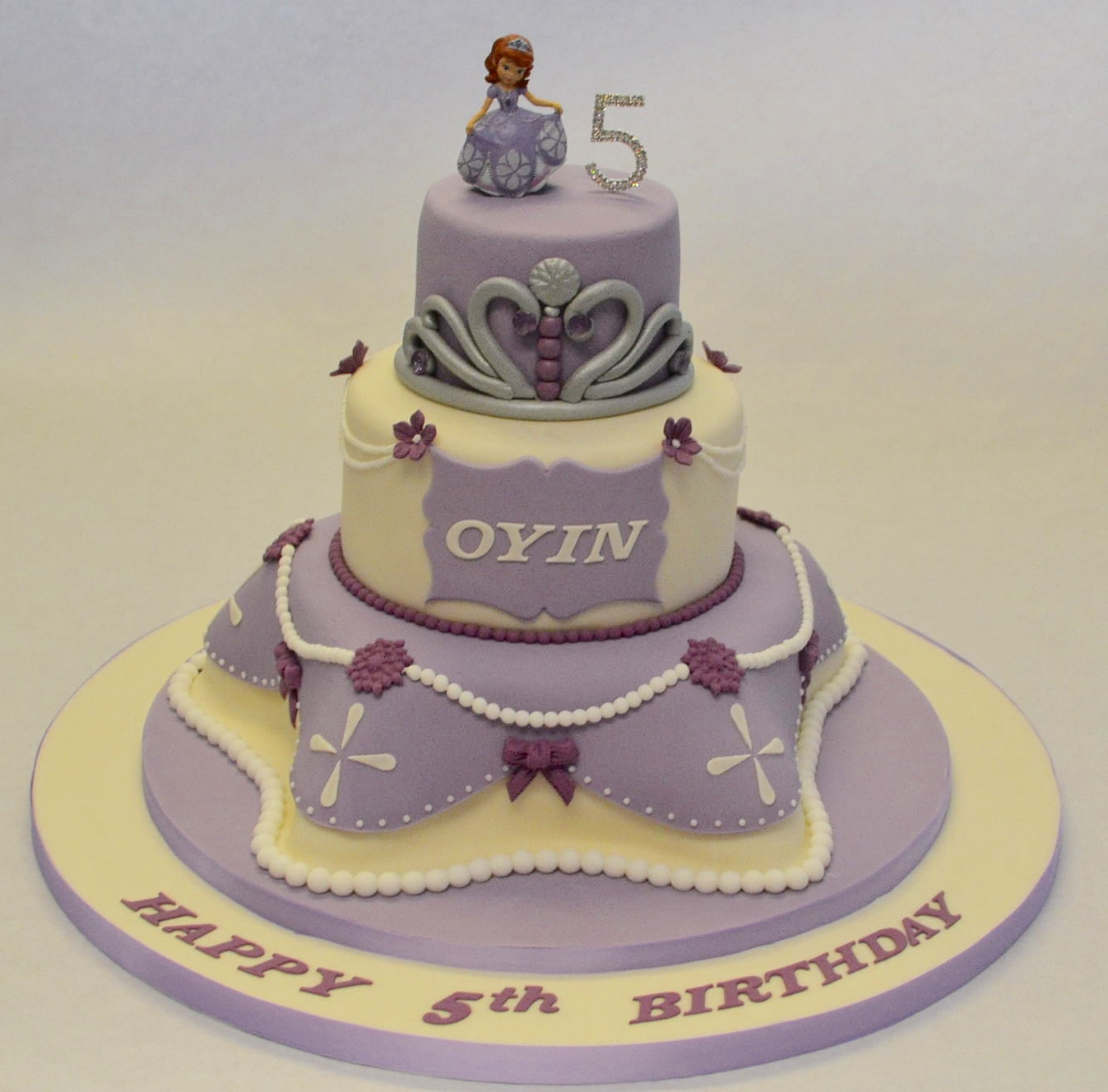 Princess Sofia Birthday Cake 3 Tier Childrens Cakes Celebration