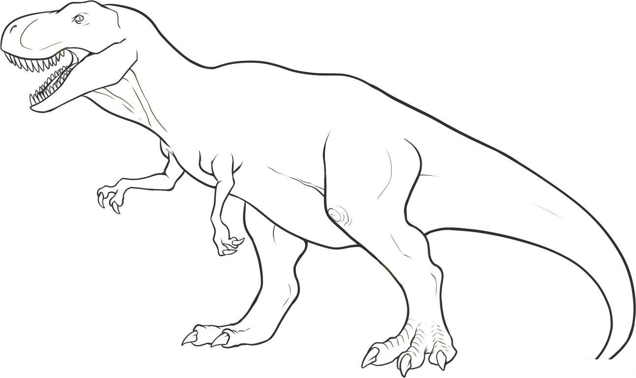 image relating to Printable Dinosaur Coloring Pages named Printable Dinosaur Coloring Web pages Coloring Webpage 34 Dinosaur