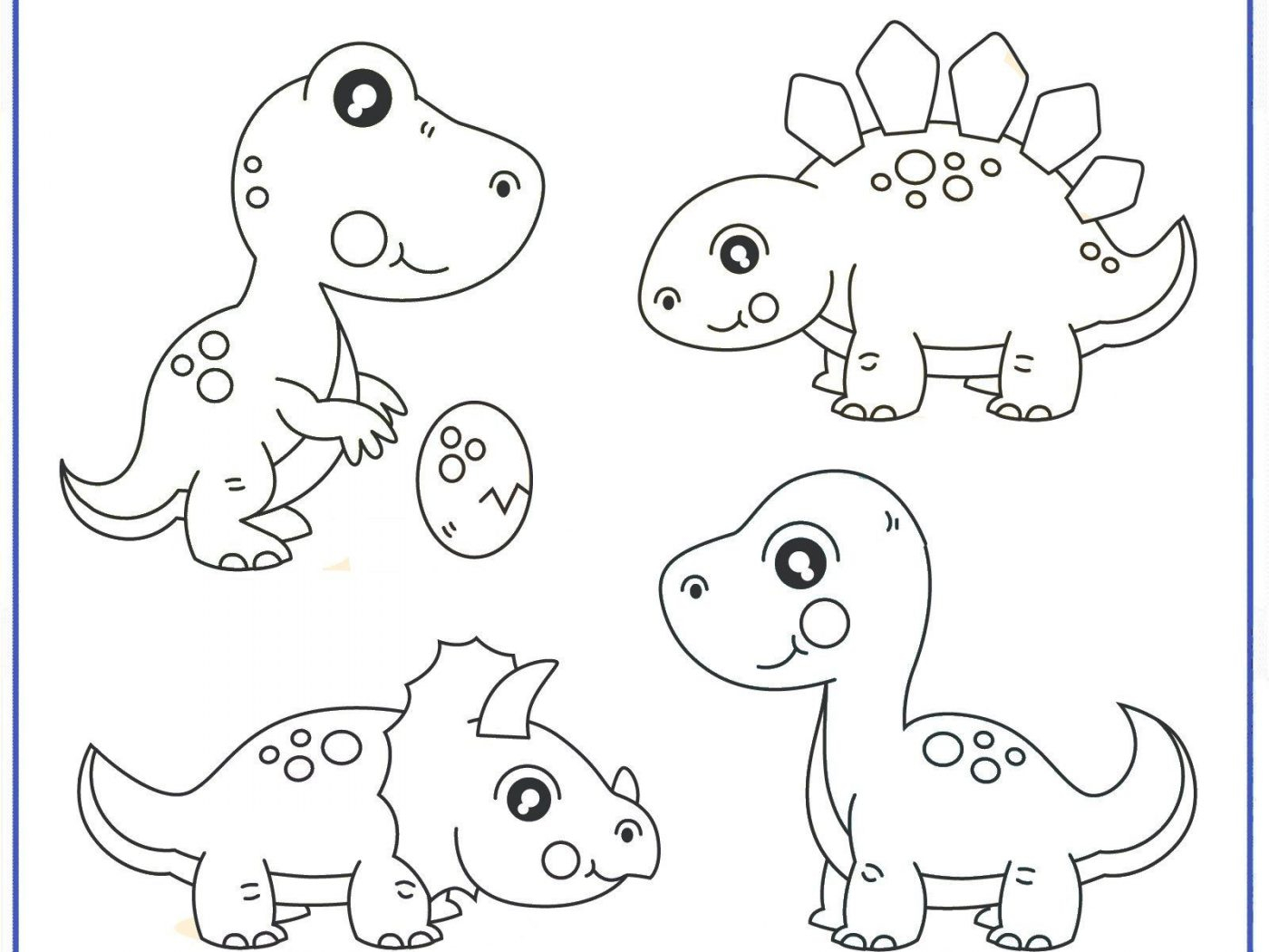 Printable Dinosaur Coloring Pages Dinosaurg Pictures Preschool ...
