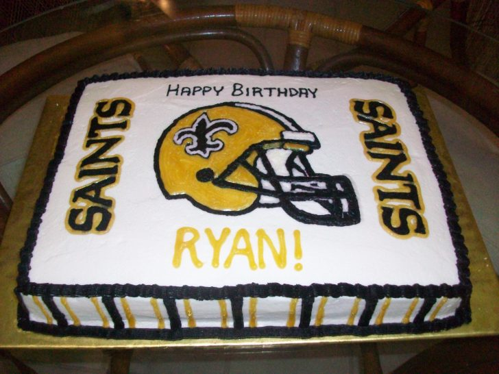 Saints Birthday Cake New Orleans Cakes
