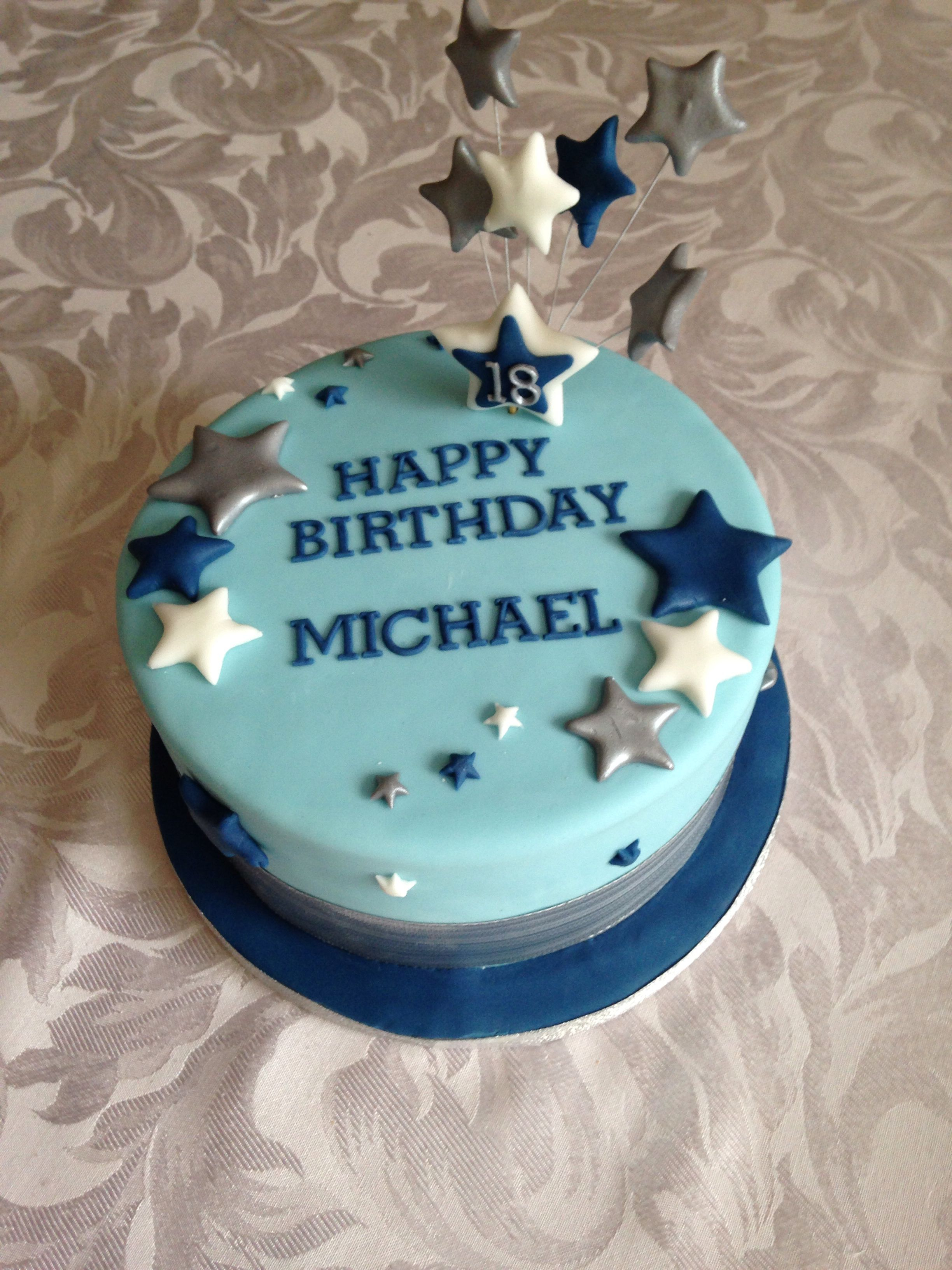 Simple Birthday Cakes 18th Cake For A Boy Prestons Party