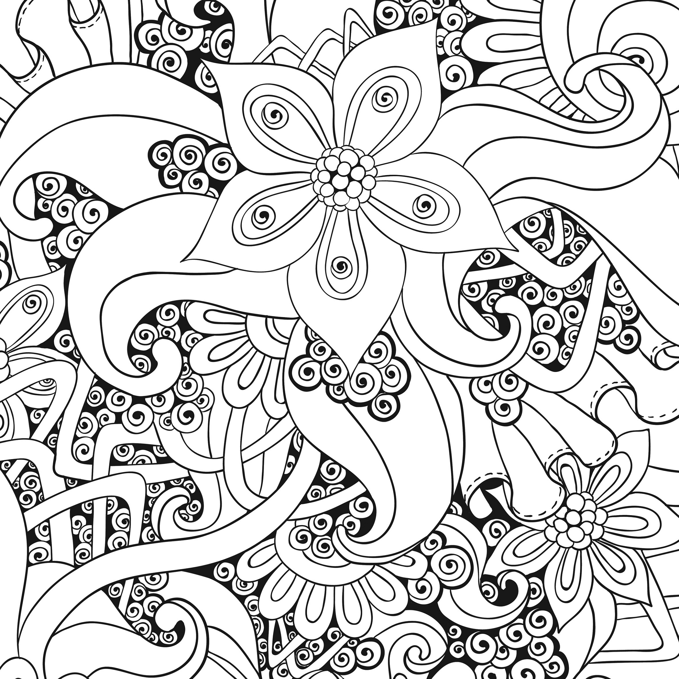 Stress Coloring Pages Anti Stress Coloring Pages Printable Shelter