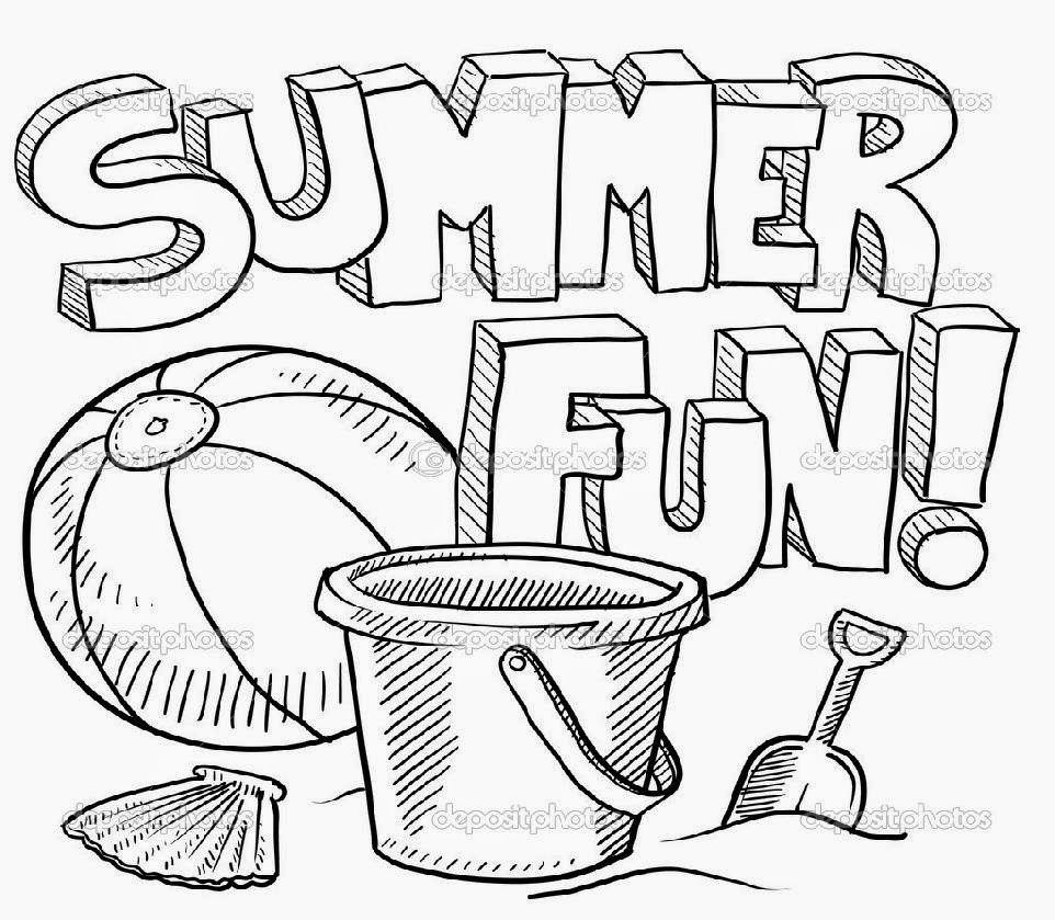Summer Coloring Pages for Kids. Print them All for Free. | 839x962