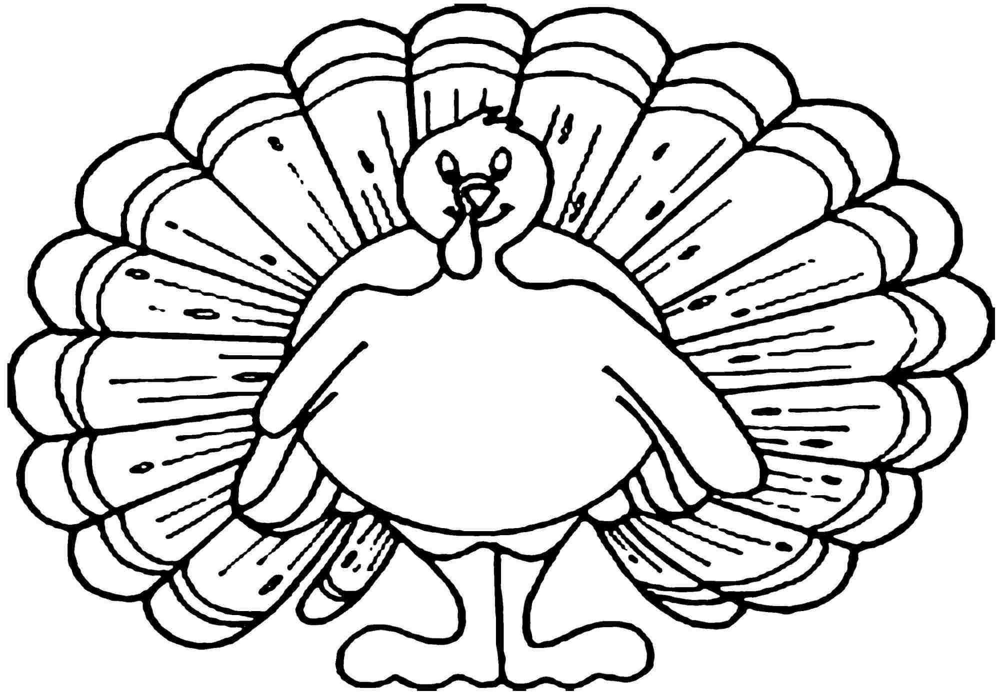 Library of turkey vector free library coloring page png files ... | 1397x2000