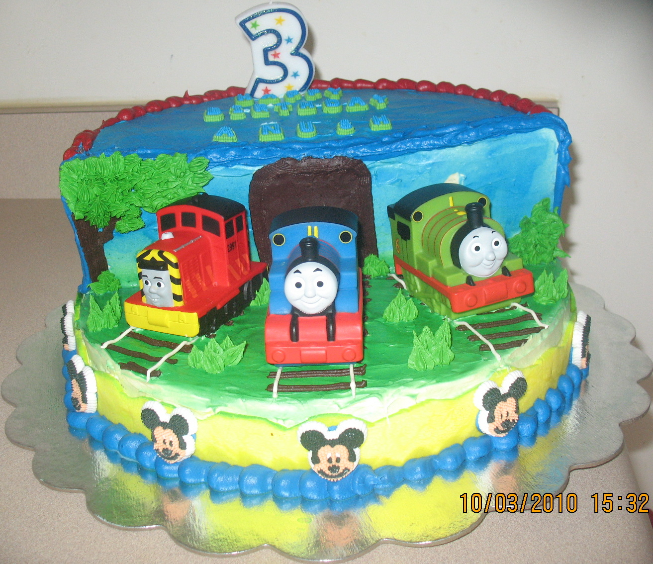 1313 X 1134 In 32 Elegant Photo Of Thomas The Train Birthday Cake