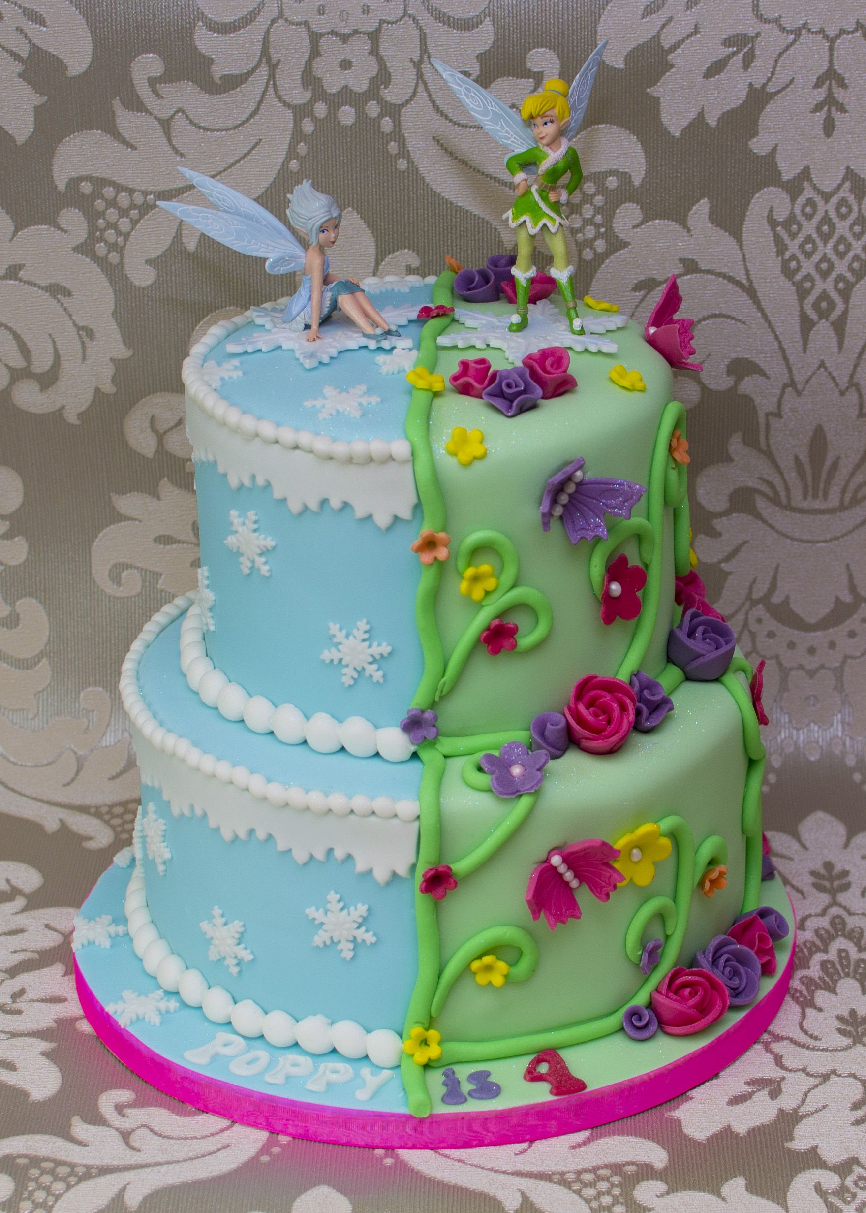 Tinkerbell Birthday Cakes Tinkerbell And Periwinkle Cake Projects To ...