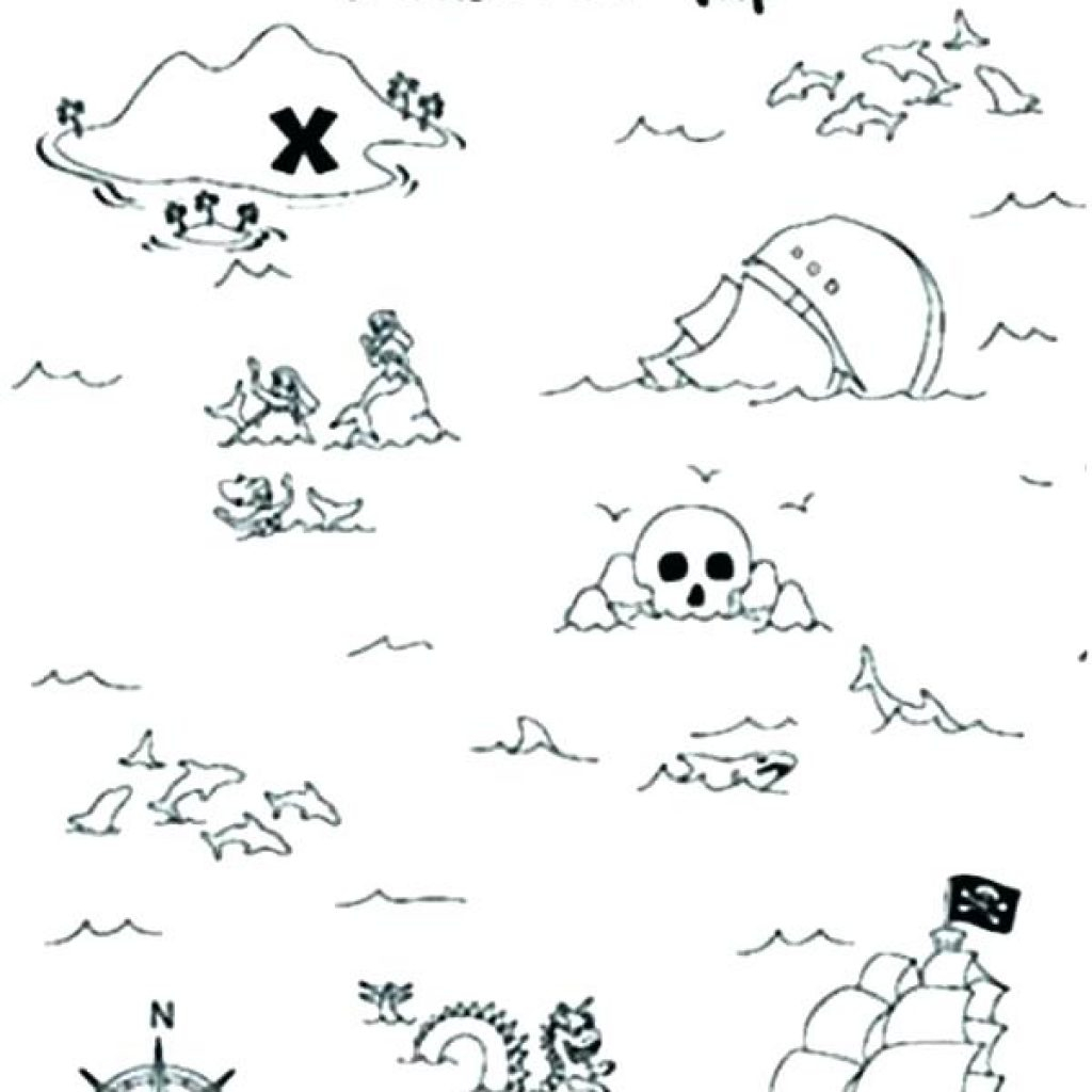 - Treasure Map Coloring Pages Printable Pirate Map Free Birthday