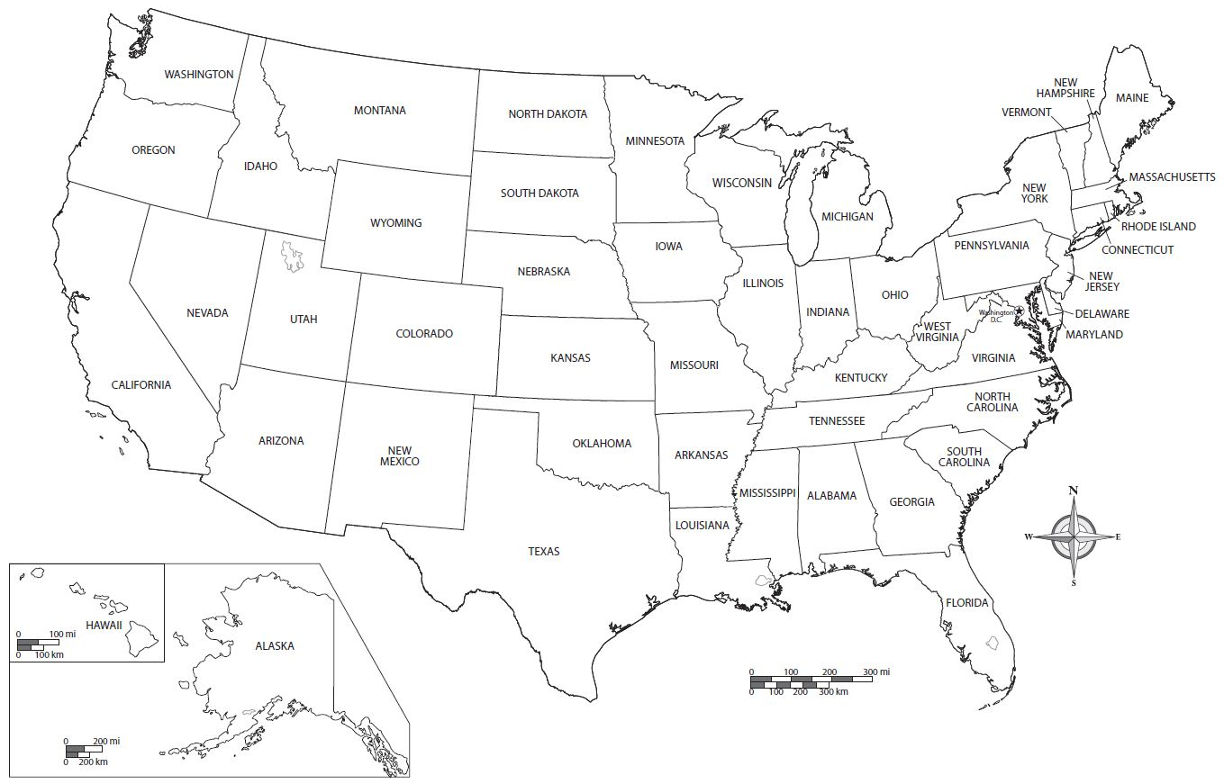 Us Map Coloring Page Usa Kids Map Coloring Pages United States Map ...