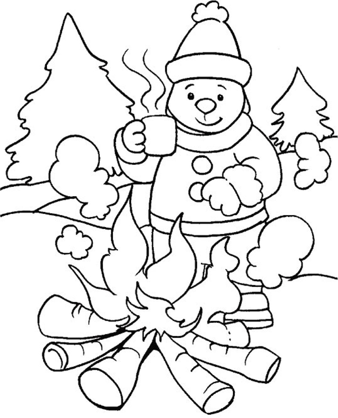 Winter Coloring Pages For Kids New Coloring Pages For Winter ...