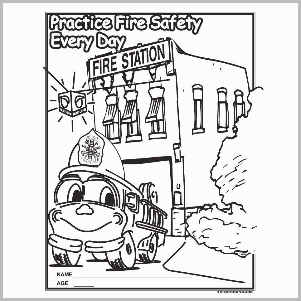 Fire Safety Coloring Pages Fire Safety Coloring Pages Pretty Fire Prevention Coloring Kitchen Birijus Com