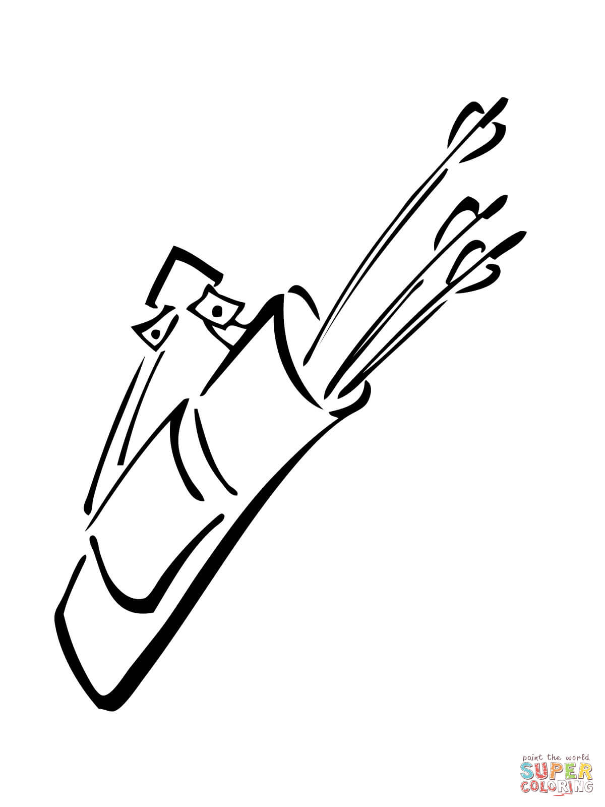 quiver coloring pages quiver with arrows coloring page